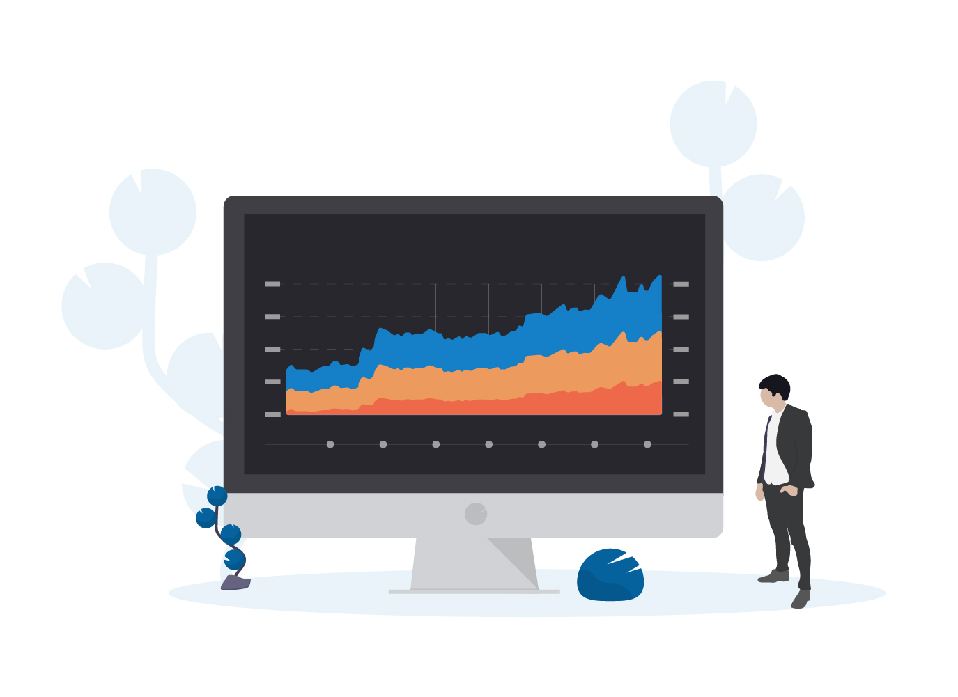 data and investor relations illustration